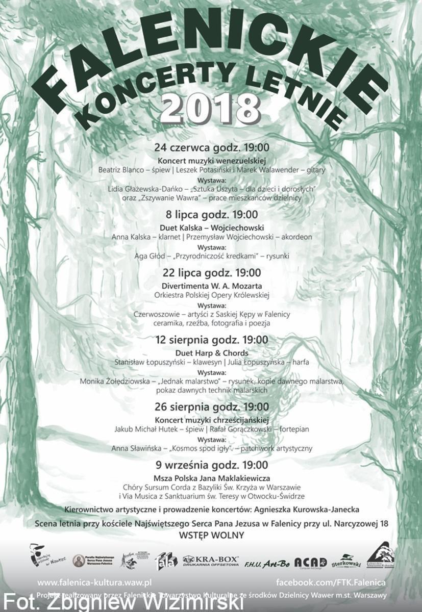 Afisz koncerty letnie 2018 WP