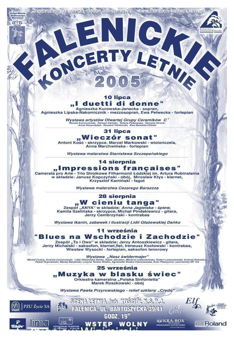 plakat koncerty letnie 2005 wp